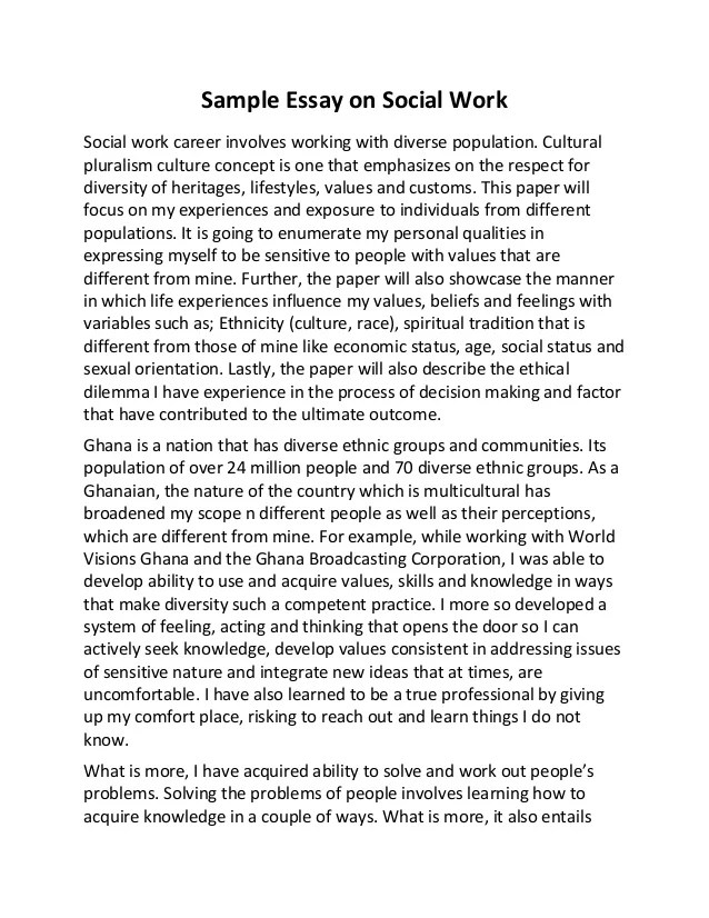 Personal statement for social work