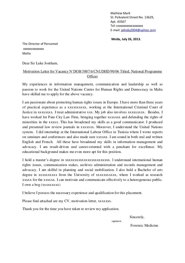 Application Cover Letter For Un Jobs  5 mistakes you make