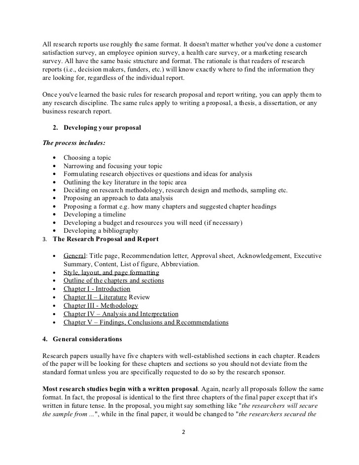 Detailed Outline Of Research Proposal