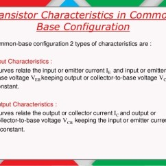 Common Base Configuration Circuit Diagram 2010 Dodge Caravan Trailer Wiring Bjt Input And Output Characteristics In Material 5 Transistor