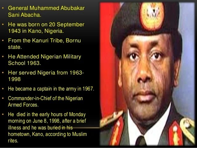 Image result for abacha