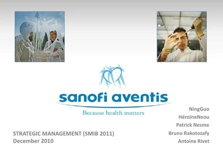 Strategic Analysis - Sanofi Aventis