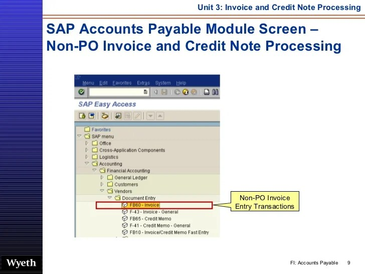 SAP Invoice Credit Note Processing  httpsapdocsinfo