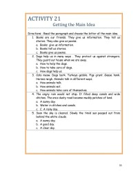 Finding The Main Idea Worksheets For 4th Graders - main ...