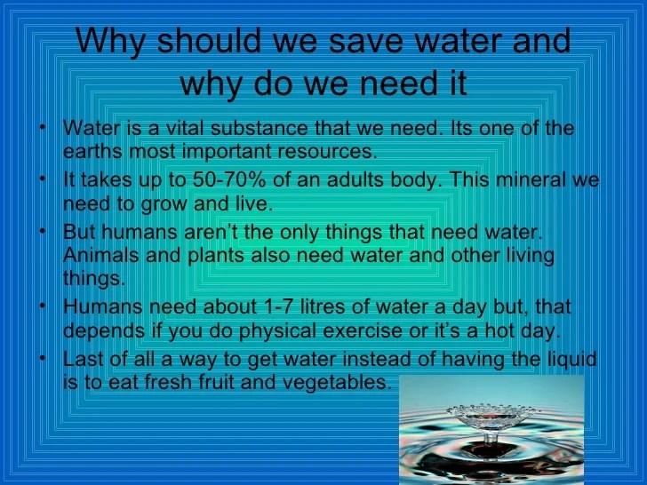 Saving water bradley