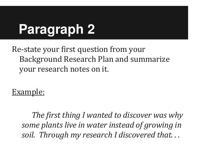Sc Fair Research Paper 2012 2013