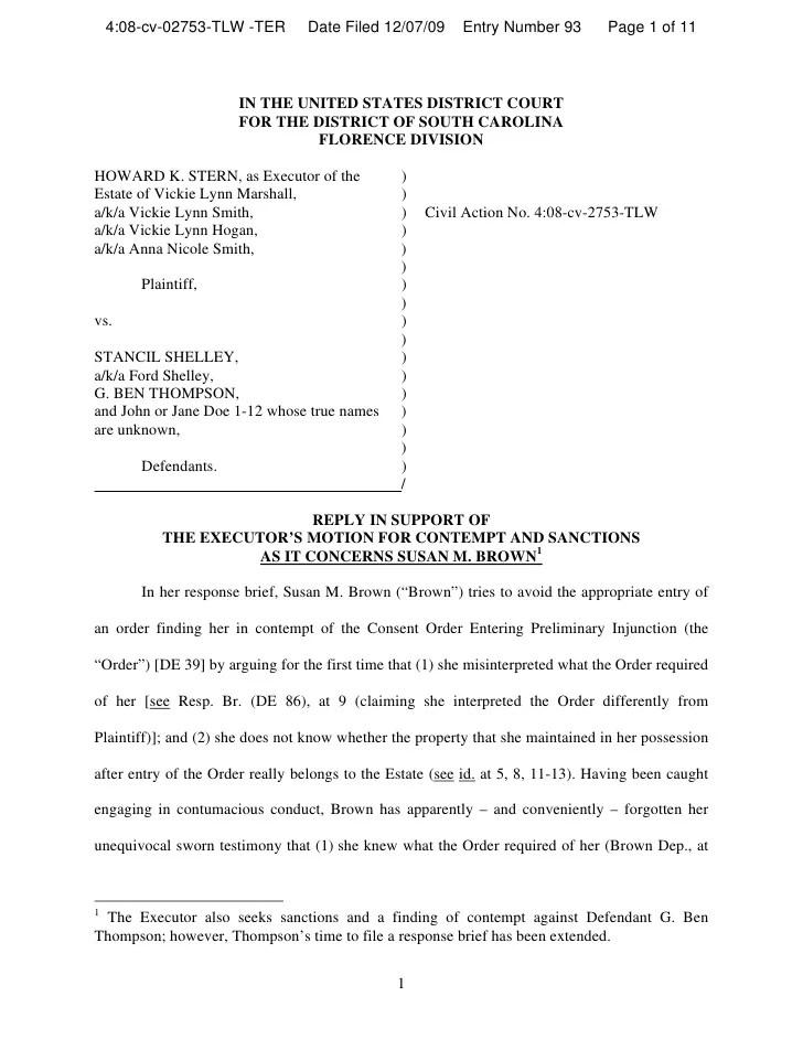 Texas Motion Contempt