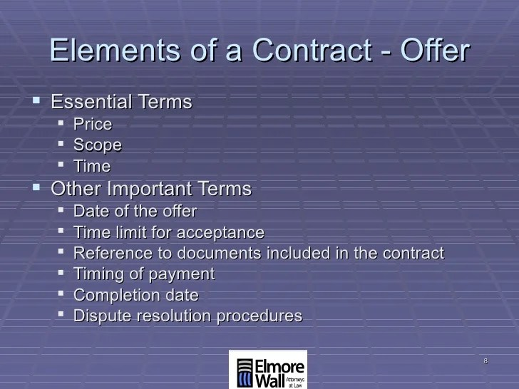 SC Contract Law For Contractors