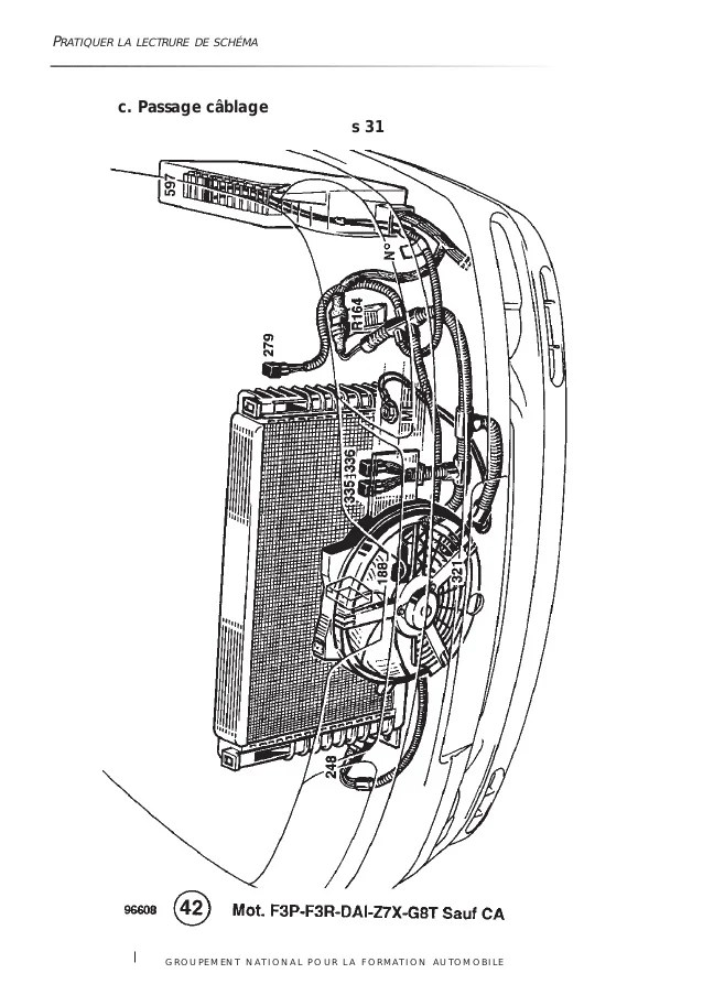 abarth schema cablage moteur lave