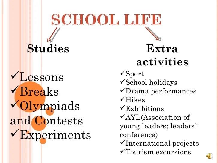 School Life Ppt Studies Uralsk