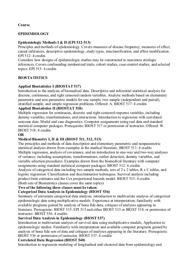 School Of Pharmacy Univ Washington Epidemiolgy Bio