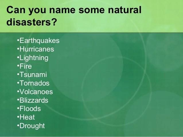 Natural Disaster Floods
