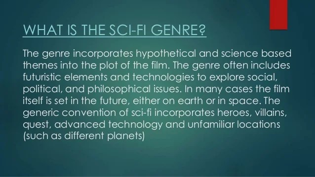 The Generic Conventions Of Sci Fi Films