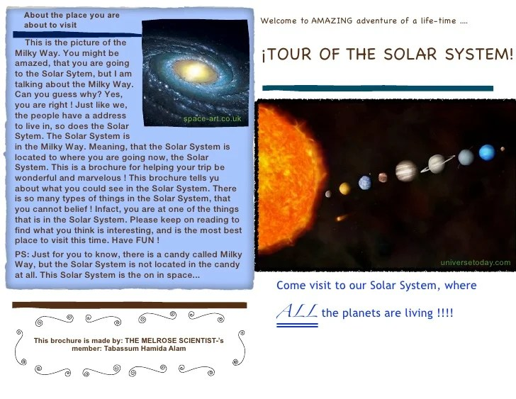 Images Of Solar System Travel Brochure Project #SpaceHero
