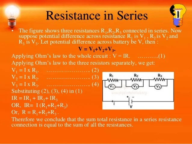 Total Resistance In A Parallel Circuit Is Equal To The Sum Of The