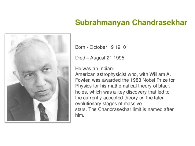 Image result for subramanian chandrasekher