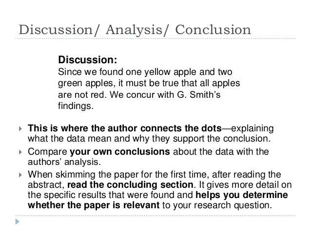 Scientific Research Paper Discussion