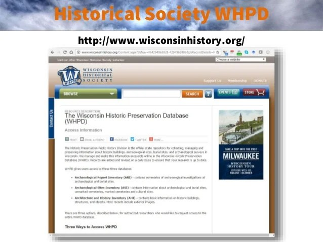 Wisconsin Web Mapping Sites