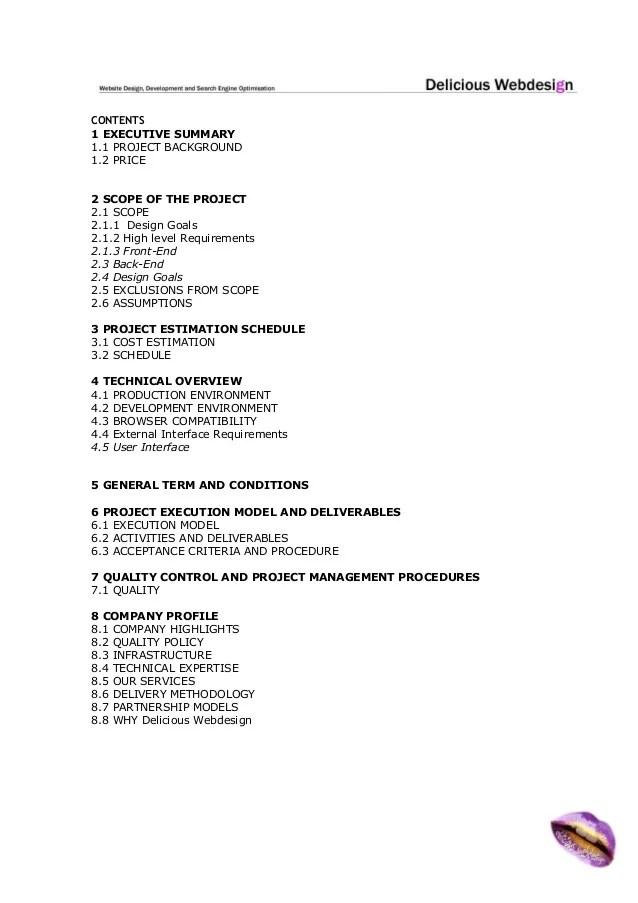 it project executive summary example