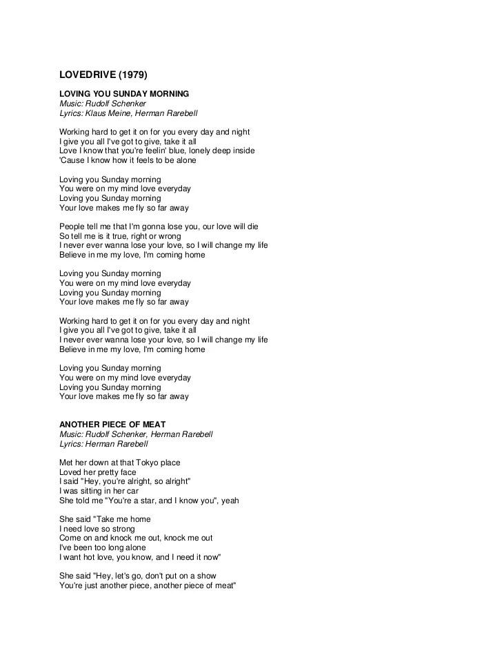 Still Loving You Paroles : still, loving, paroles, Scorpions