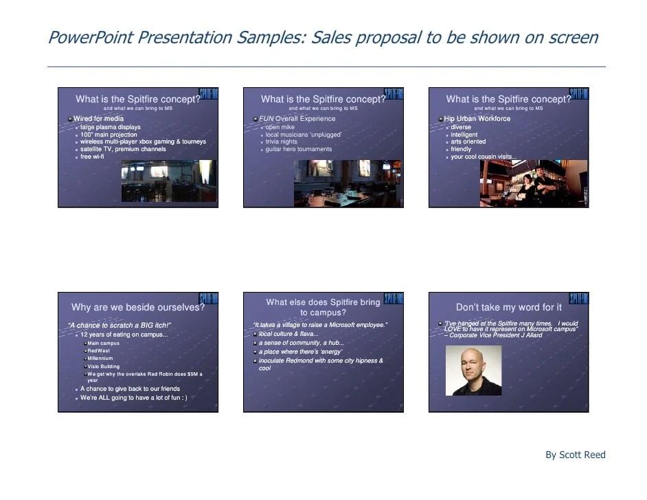 Sales Presentation Samples Ideal Vistalist Co