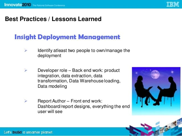 Best Practices and Lessons Learned on Our IBM Rational