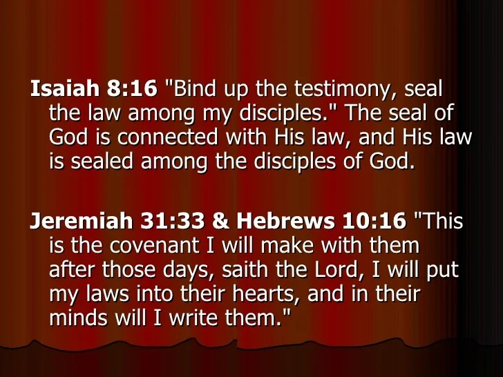 Image result for Bind up the testimony