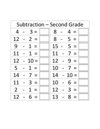 Second grade addition subtraction timed test