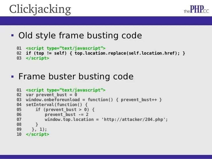 Frame Buster Code | Siteframes.co