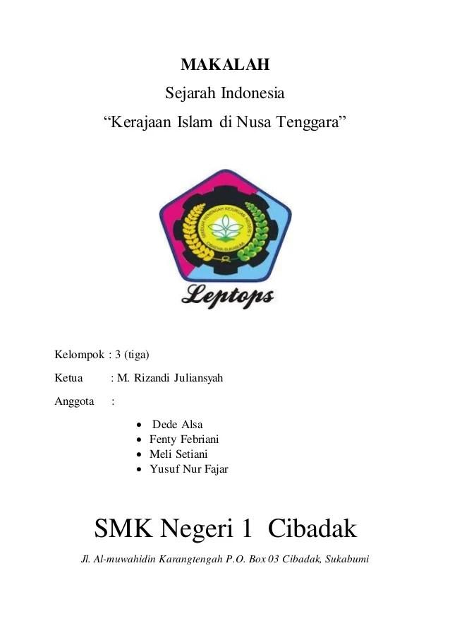 Contoh Makalah Sejarah Masuknya Islam Di Indonesia Cute766