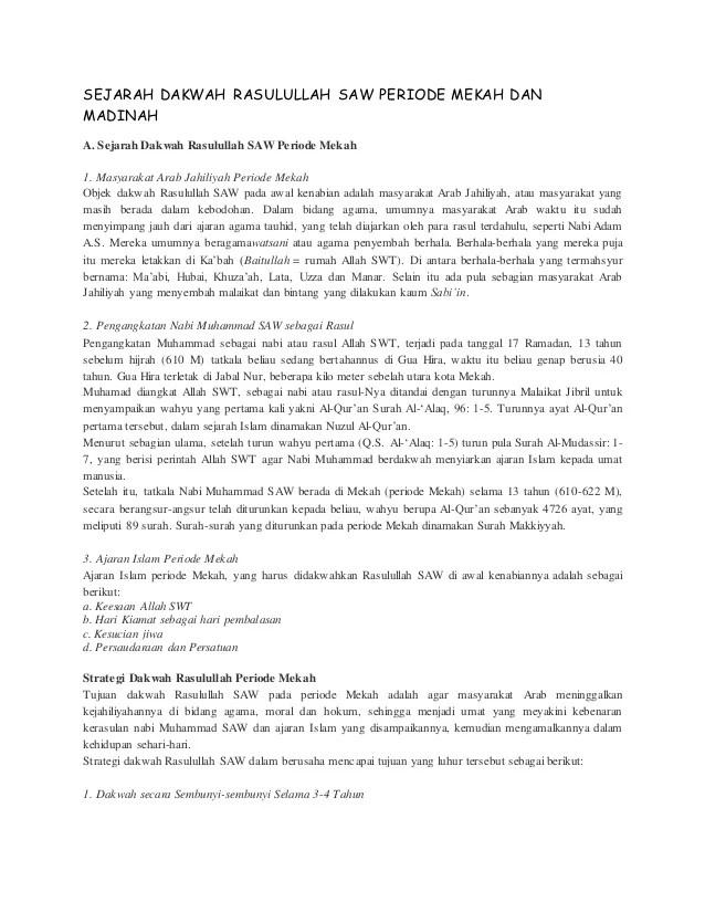 Strategi Dakwah Rasulullah Periode Mekah - umma.id