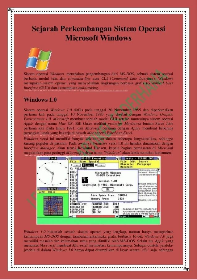 Sejarah Perkembangan Sistem Operasi : sejarah, perkembangan, sistem, operasi, Sejarah, Perkembangan, Sistem, Operasi, Microsoft, Windows