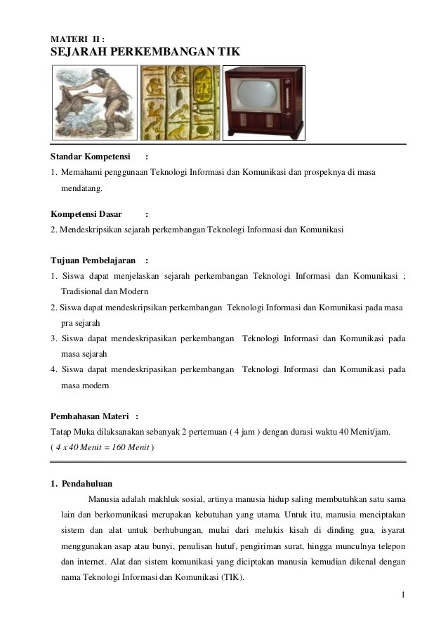 Sejarah Perkembangan Tik : sejarah, perkembangan, Materi, Sejarah, Perkembangan