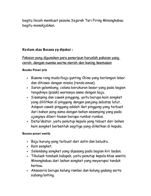 Kostum Dan Properti Tari Piring : kostum, properti, piring, Sejarah, Piring, Minangkabau