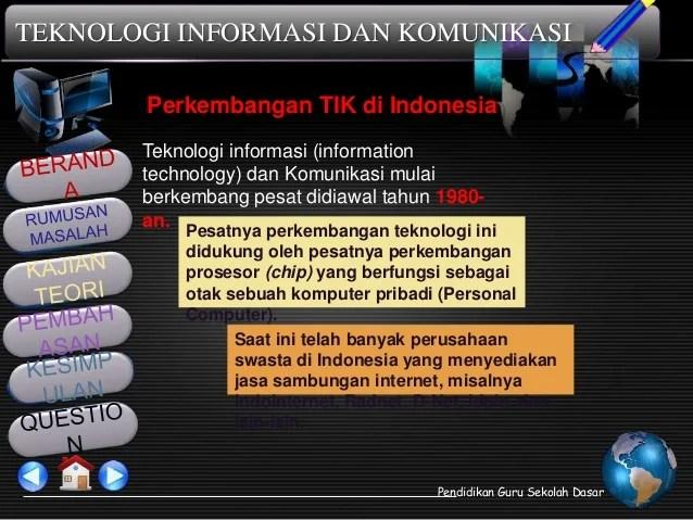 Sejarah Dan Perkembangan Tik Di Dunia Dan Indonesia