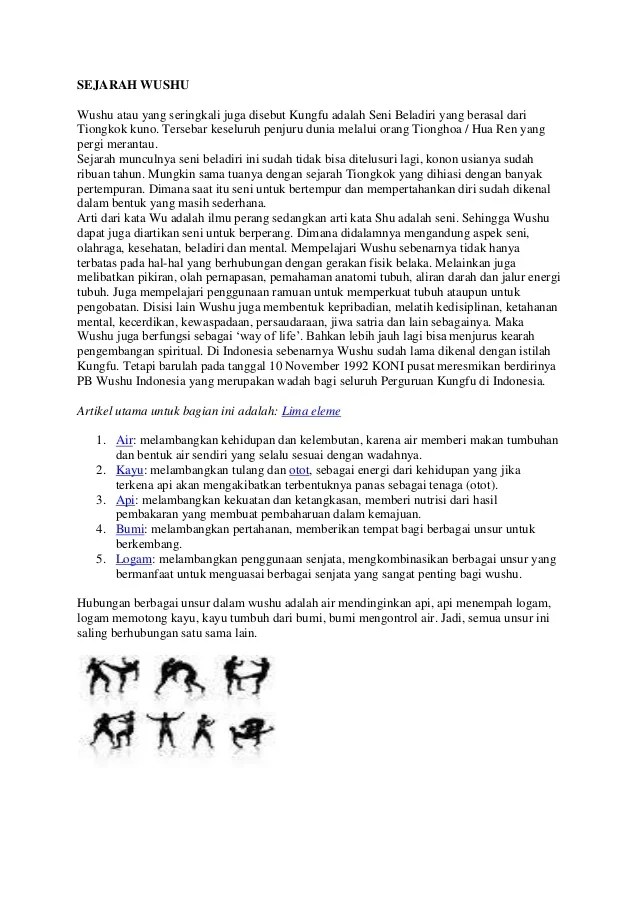 Sejarah Wushu : sejarah, wushu, Sejarah, Wushu