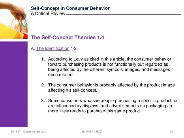 9192011 SelfConcept in Consumer Behavior