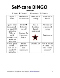 Self-care Worksheets Related Keywords - Self-care ...