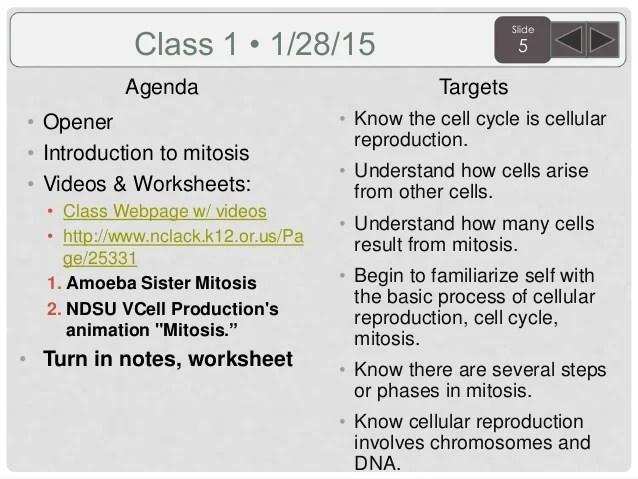 sem 2 3rd quarter biology agenda and targets 2015