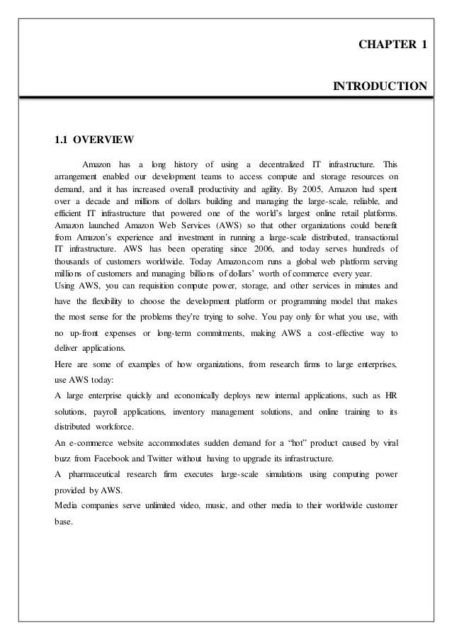Seminar Report On Amazon Web Service
