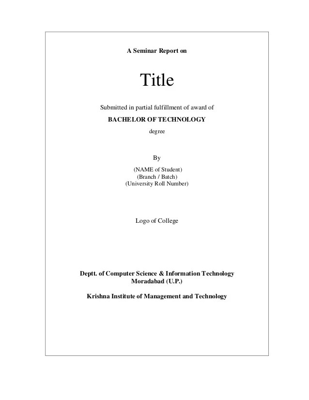 report title page format - April.onthemarch.co