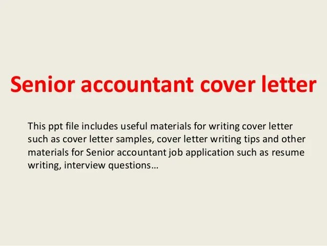 Writing A Cover Letter Accounting Position | Resume Tips For ...