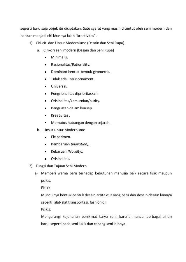 Ciri Ciri Seni Rupa Kontemporer : kontemporer, Moden, Kontemporer, Indonesia