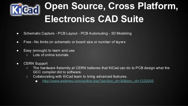 Tinycad Is An Open Source Schematic Capture Program For Ms Windows