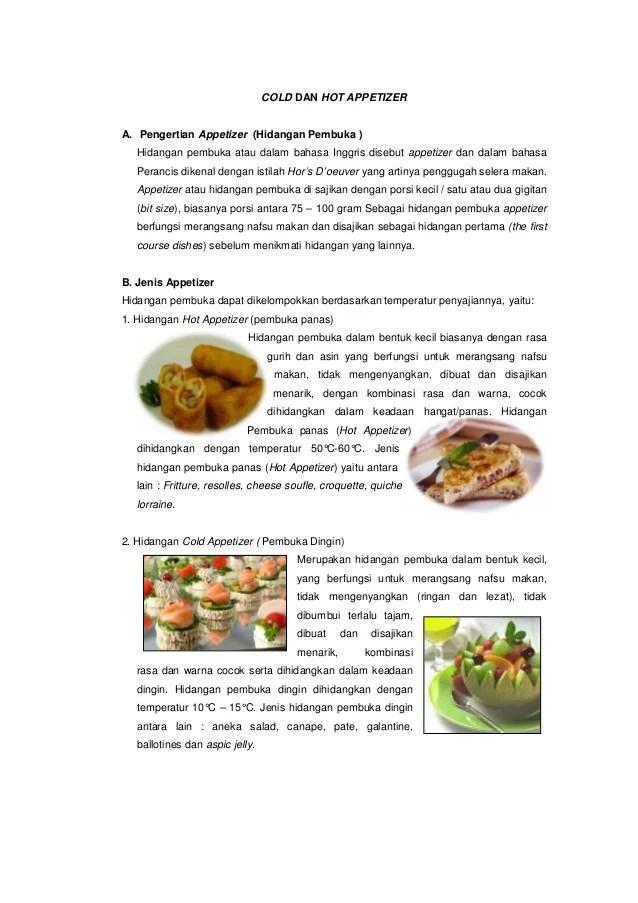Jenis Jenis Appetizer : jenis, appetizer, Seputar, Appetizer