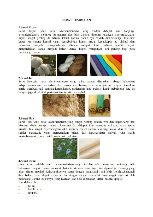 Bahan Serat Alami : bahan, serat, alami, Serat, Tumbuhan, Hewan
