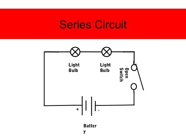 Series Circuit Composed Of One Battery Two Light Bulbs In Two Light
