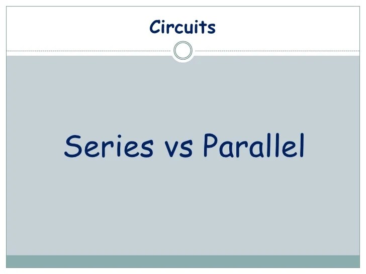 Series Parallel