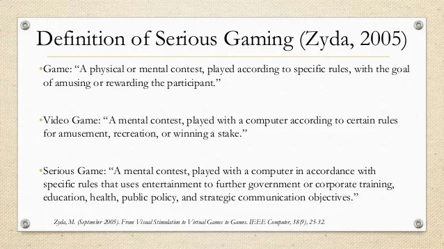 Peter Shea Serious Games In Higher Education Problems