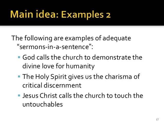 Sermon Rudiments Basic Sermon Design